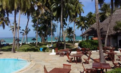 tourists relaxing at diani beach hotel